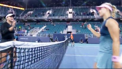 Tennis star's brutal sledge for rival during handshake
