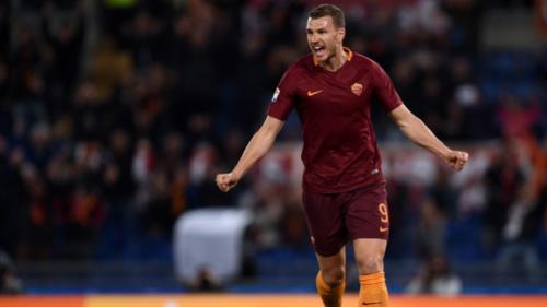 Dzeko marca duas vezes e garante vitória da Roma no Italiano