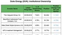 Institutional Big Positions in Duke Energy in Q3 2018