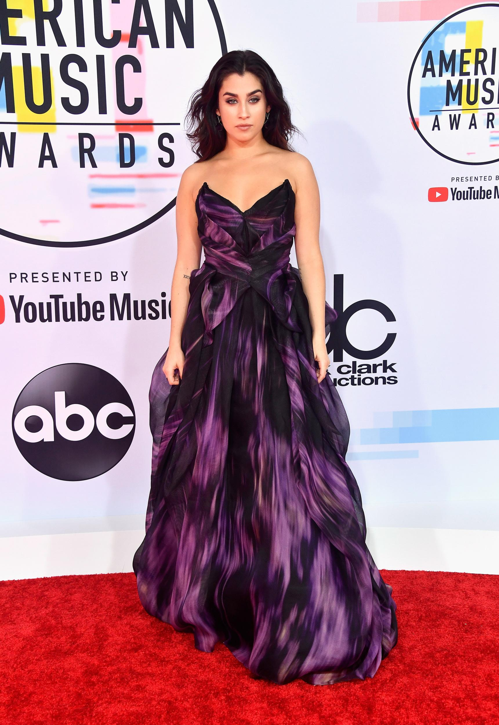 LOS ANGELES, CA - OCTOBER 09:  Lauren Jauregui attends the 2018 American Music Awards at Microsoft Theater on October 9, 2018 in Los Angeles, California.  (Photo by Frazer Harrison/Getty Images)