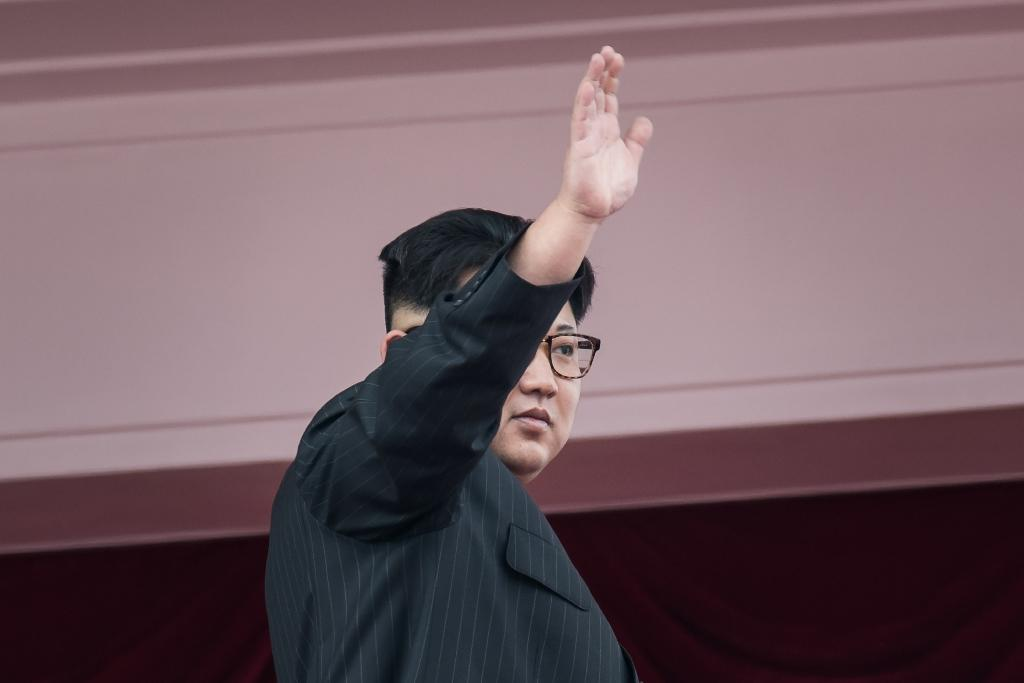 Kim Jong Un is ready to discuss denuclearization with US officials, according to reports (AFP Photo/Ed JONES)