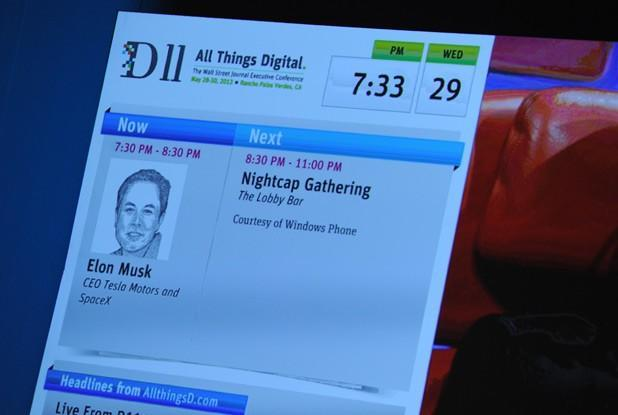 Elon Musk, CEO of Tesla Motors and SpaceX, live at D11