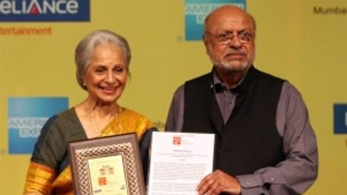 Waheeda Rehman honoured with Lifetime achievement award