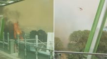 Canberra Airport closed after bushfires approach suburban streets