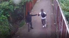 Teen killers filmed 'fist bumping' each other after stabbing 18-year-old to death in unprovoked attack