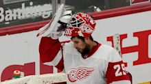 Goalie Thomas Greiss' stats are abysmal, but here's why Wings say it's not all his fault