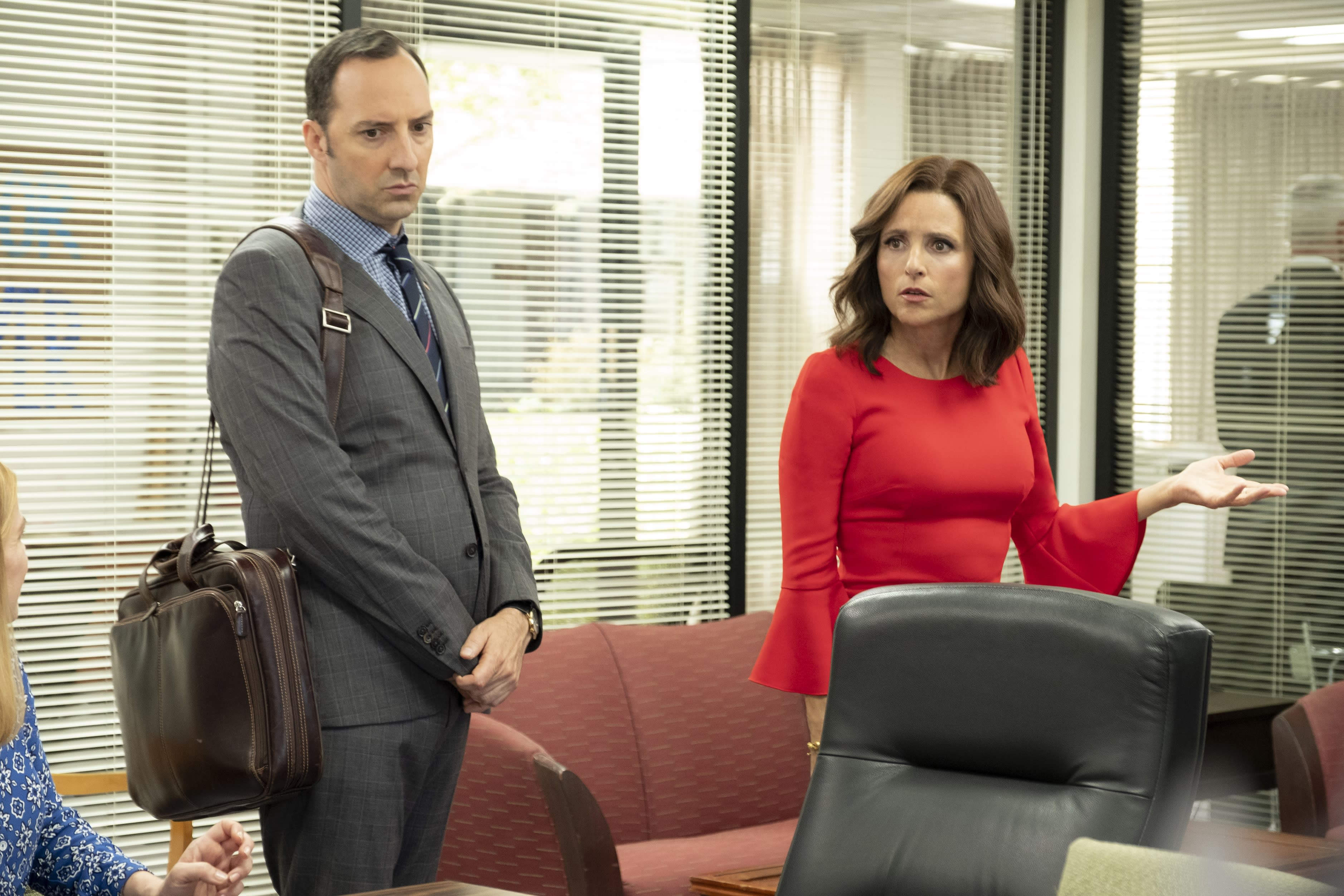 Emmy-nominated Tony Hale on his leather man-bag in Veep