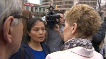 Wynne comforts woman at van attack memorial