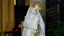 Pope holds dramatic solitary service for relief from coronavirus