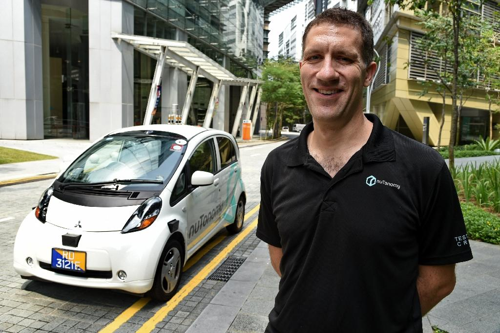 NuTonomy executive Doug Parker announced in August that the tech start will hold trials in three Asian countries after it launched the world's first driverless taxi test in Singapore (AFP Photo/Roslan Rahman)