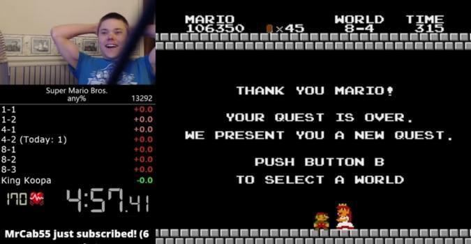 Baten el récord del mundo de Super Mario Bros