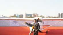The incredible story of how this man built an aircraft on the terrace of his building