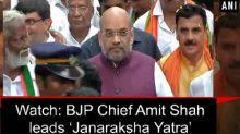 Watch: BJP Chief Amit Shah leads 'Janaraksha Yatra'