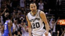 Watch Manu Ginobili autograph his basketball court-sized mural in Buenos Aires