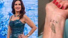 Fátima Bernardes engana público com tatuagem de aplicativo