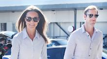 Pippa Middleton and James Matthews Coordinate Airport Looks, Are Adorable