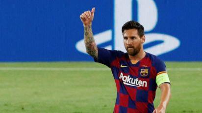 梅西助巴薩淘汰那不勒斯 歐冠8強戰將戰拜仁