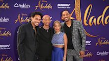 Will Smith, Jada Pinkett Smith and children lead purple carpet style at 'Aladdin' premiere