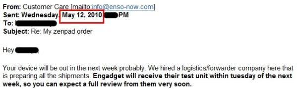 No, we didn't get an Enso zenPad