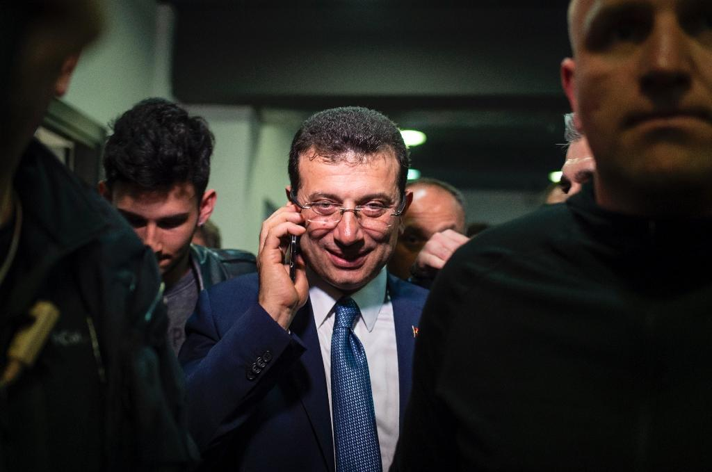 Main opposition Republican People's Party (CHP) candidate for Istanbul mayor Ekrem Imamoglu has already declared himself mayor after winning a slim margin in the election (AFP Photo/Yasin AKGUL)
