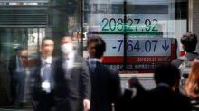 Asia stocks sag on oil's slide, dollar dips before Fed testimony