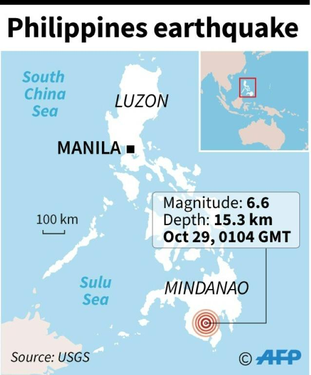 Strong quake hits south Philippines, injuries reported