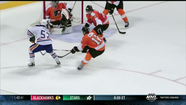 Ales Hemsky dangles and dishes to Perron