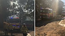 Out-of-control fire burning on outskirts of Sydney
