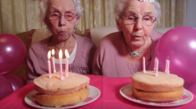 102-year-old twins have adorable photoshoot, say plenty of iron and having 2 drinks make them look so young