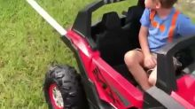 'Best Unstucker Ever': 3-Year-Old Helps 'Tow' Father's Truck