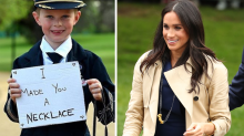 Meghan Markle wears pasta necklace made by young fan