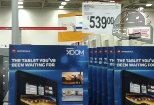 WiFi-only Motorola Xoom appears at Sam's Club, bearing $539 price?