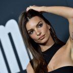 Emily Ratajkowski wears 'F*** Harvey' message to premiere after Weinstein's settlement revealed