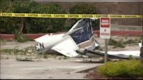 Small plane crashes into Fed-Ex truck in Northern California