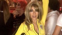 Elizabeth Hurley, 54, dons a blonde wig for sexy 'Kill Bill' Halloween costume