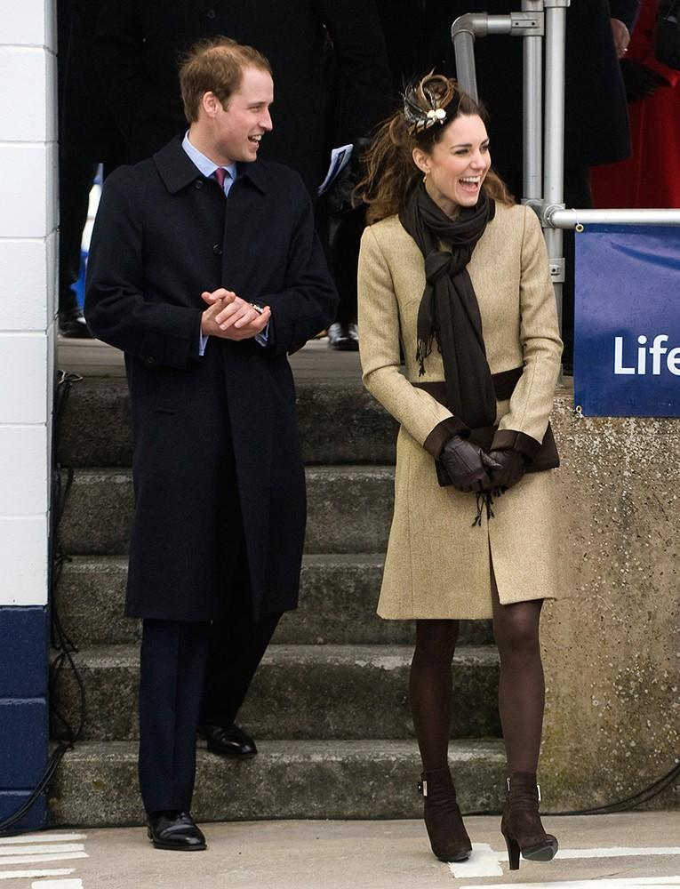 Kate wore all shades of neutral to launch a new RNLI lifeboat in the chilly February weather.