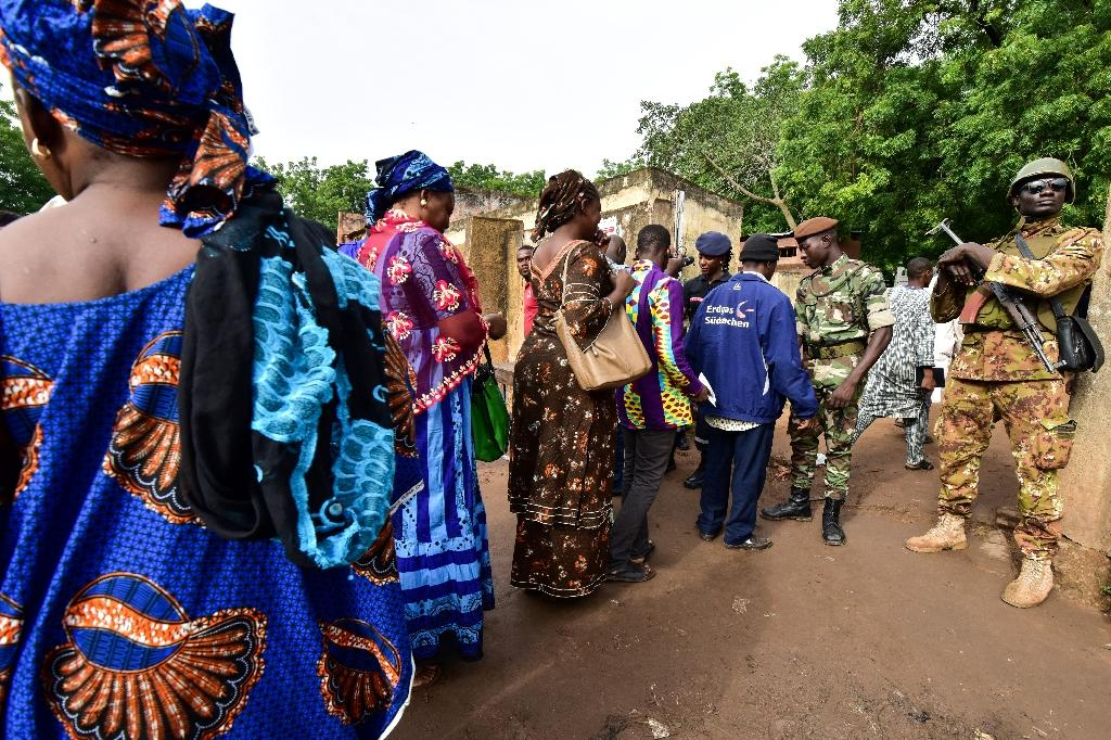 Despite the deployment of 30,000 security personnel throughout the country, several incidents were reported in the north and centre (AFP Photo/ISSOUF SANOGO)