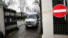 Tearful Russian Diplomats Leave UK Embassy Ahead Of PM's Exit Deadline