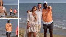 Dwyane Wade was walking down a California beach during a wedding proposal...