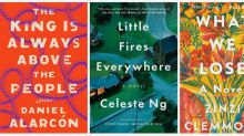 "Orange, paintbrush strokes, and ""golden eyes"" dominated US book covers in 2017"