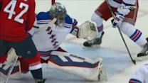 Lundqvist turns away Ovechkin and Ward