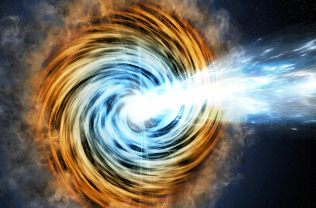 Gamma ray telescope spots ancient, intense black holes