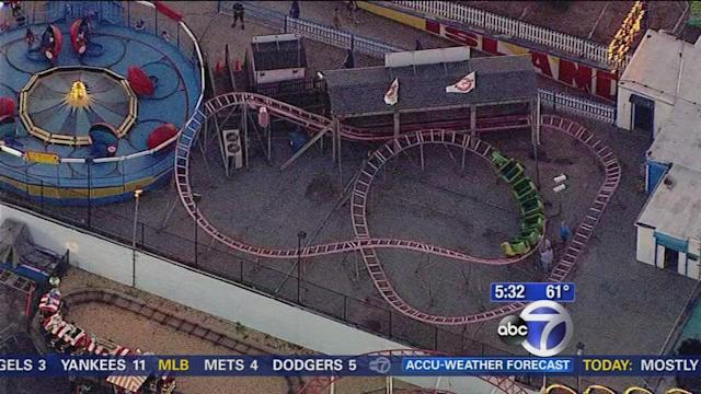 Child hurt in fall from Coney Island roller coaster