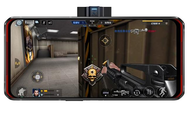 Lenovo's first gaming phone has a camera on the side and two batteries