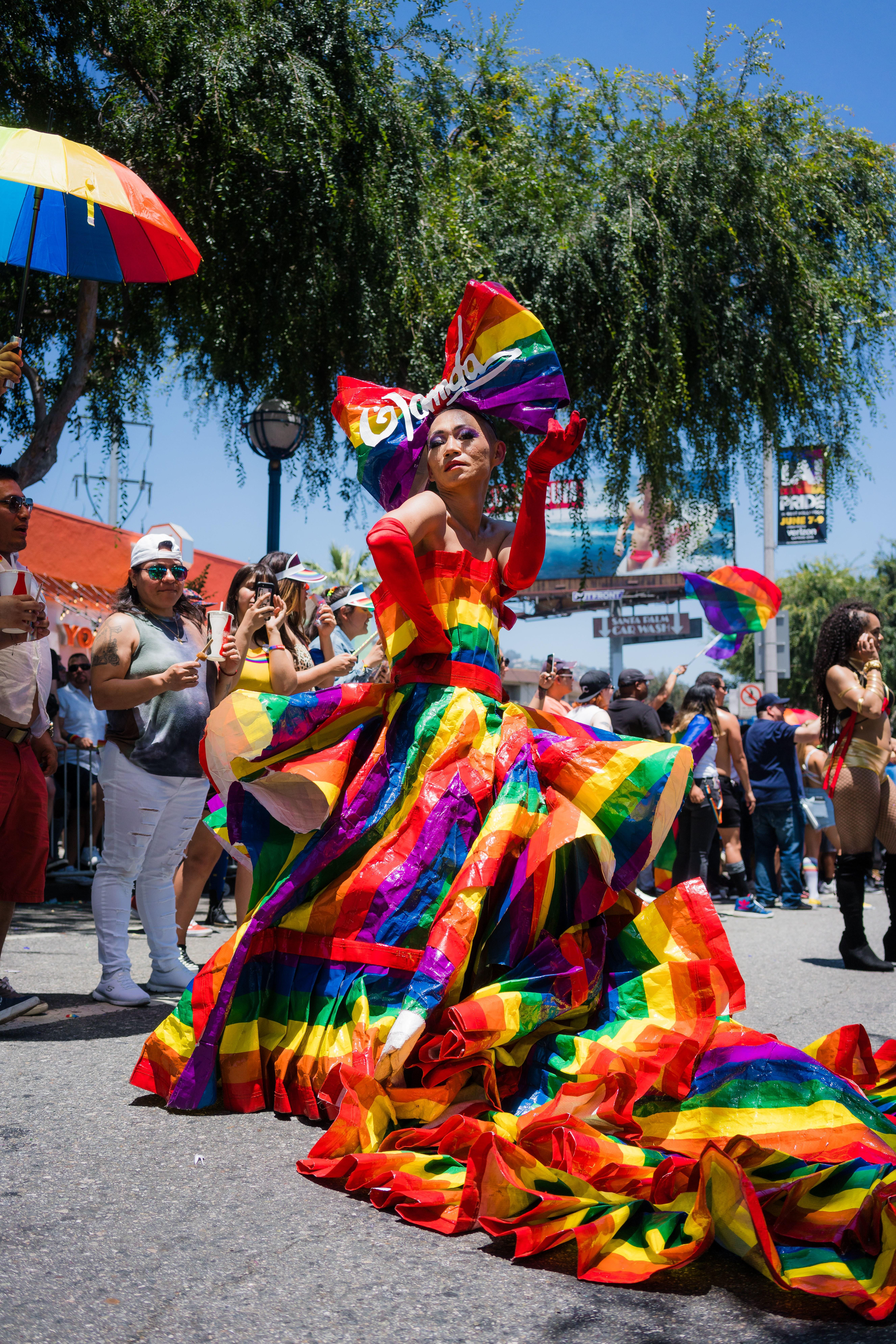 The L A  Pride Parade Brought an Exuberant Rainbow of