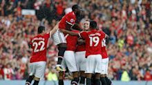 United spoil Rooney's homecoming with three late goals