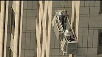 Raw: Workers Stuck on New York High-rise