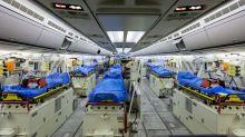 Coronavirus: el imponente avión militar que Alemania envió para buscar enfermos italianos