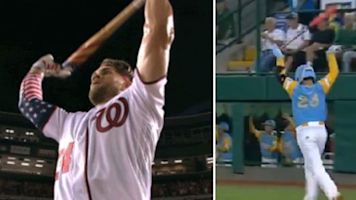 LLWS hero just like Bryce with epic bat flip