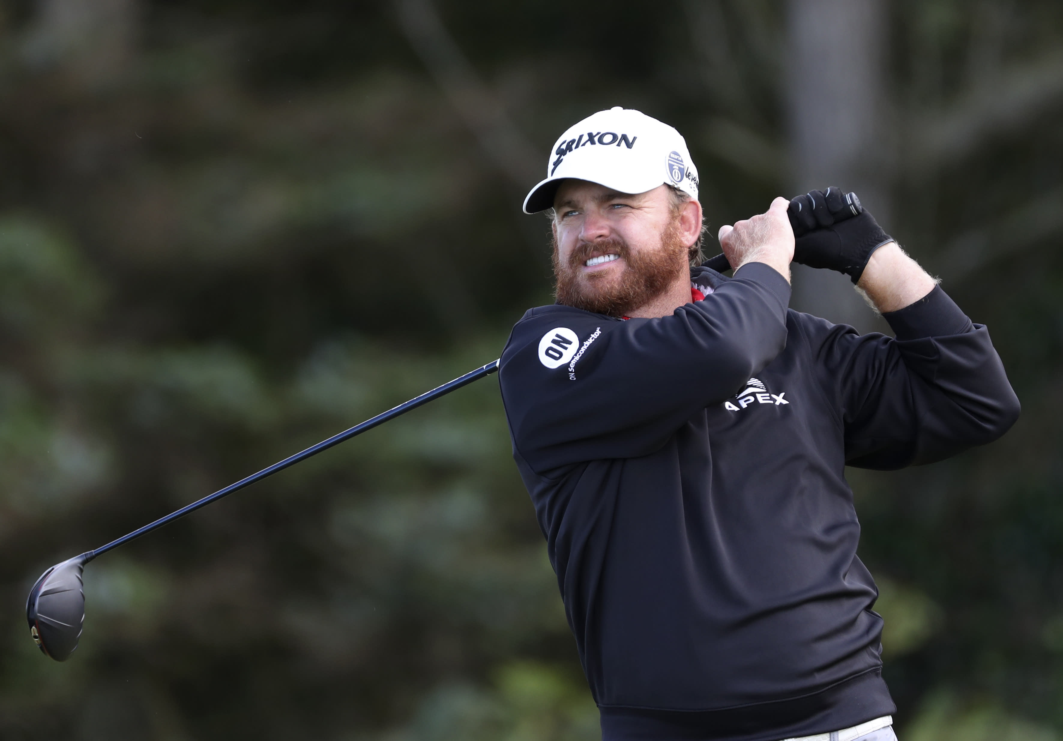 J.B. Holmes of the United States tees off on the 5th hole during the third round of the British Open Golf Championships at Royal Portrush in Northern Ireland, Saturday, July 20, 2019.(AP Photo/Peter Morrison)